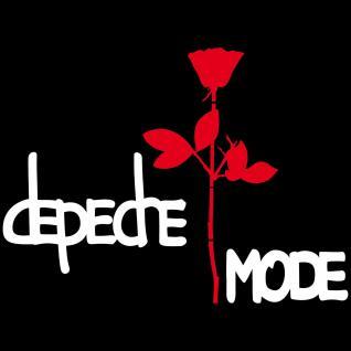 Set L Depeche Mode Exciter Schriftzug + Rose 50cm Aufkleber Auto Tattoo Folie