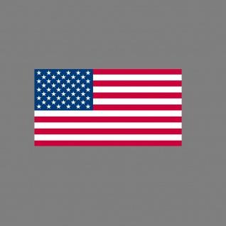 Aufkleber 6, 5cm Sticker US Flag USA Flagge Fahne Fußball Fan EM WM Deko