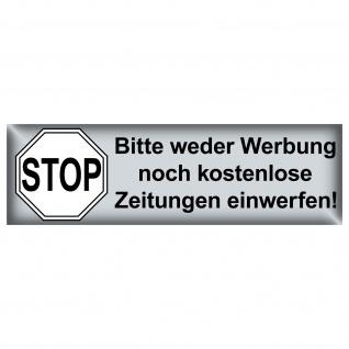 Aufkleber Briefkasten Sticker Stop Bitte Keine Werbung Reklame Zeitung einwerfen