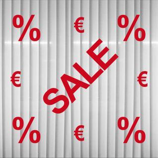 Set Schaufenster Fenster Hinweis Prozent Euro % € Sale Aufkleber Tattoo Folie