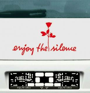 Enjoy the silence rot 45cm + Rose rot 20cm Auto Aufkleber Tattoo Depeche Mode