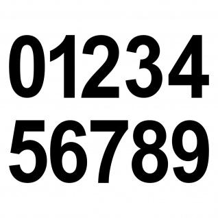 20 Aufkleber Tattoo 8cm schwarz Zahl Zimmer Haus Tür Spind Start Nummer Ziffer