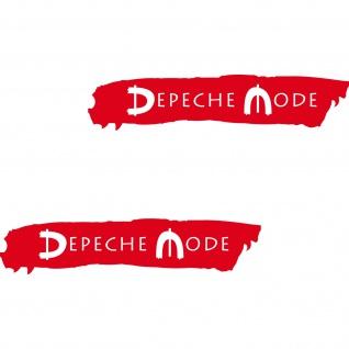 2 Aufkleber 20cm rot cut out Auto Heck Klappe Seite Folie Depeche Mode Spirit