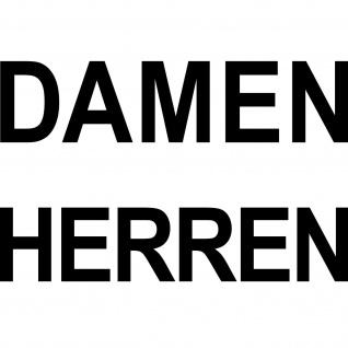 2 Aufkleber schwarz DAMEN + HERREN Tür Hinweis Schriftzug Beschriftung Tattoo