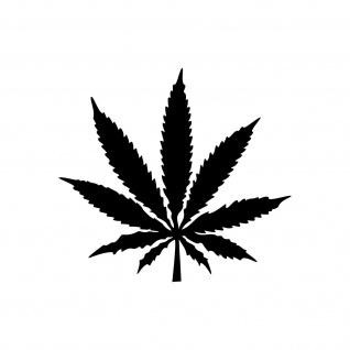 1 Hanf Blatt 10cm schwarz THC Gras Pflanze Marihuana Aufkleber Tattoo Deko Folie
