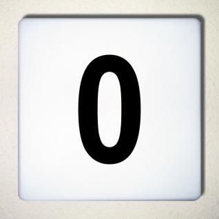 Ziffer 0 schwarz 12cm Aufkleber Tattoo Nummer Zahl Hausnummer Haus Tür Mülltonne - Vorschau 1