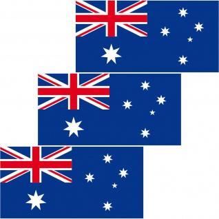 3 Aufkleber 6, 5cm Sticker AUS AU Australien Fußball Deko EM WM Flagge Fahne