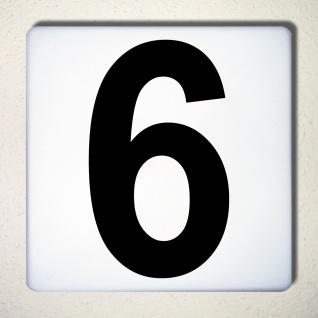 Ziffer 6 schwarz 18cm Aufkleber Tattoo Nummer Zahl Hausnummer Haus Tür Mülltonne