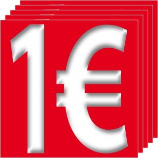 1€ Aufkleber 10cm Sticker 1Euro Zeichen Symbol Rabatt Preis Aktion 4061963007471