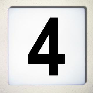 Ziffer 4 schwarz 15cm Aufkleber Tattoo Nummer Zahl Hausnummer Haus Tür Mülltonne