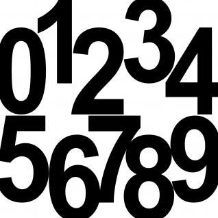 1 Stück 18cm schwarz Aufkleber Tattoo Hausnummer Wunschziffer Zahl Nummer Ziffer - Vorschau 3