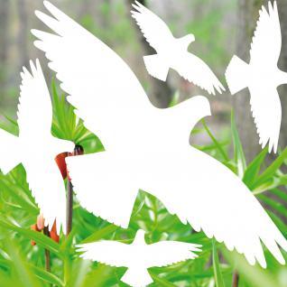 35cm Set weiß Vogel Aufkleber Tattoo Deko Fenster Scheiben Glas Schutz Folie