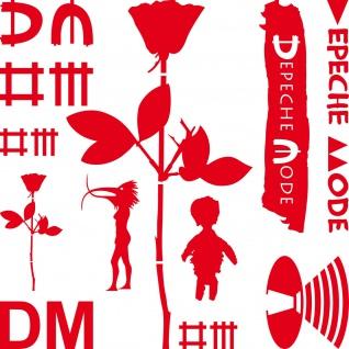 DM Mega Set rot Depeche Mode Autoaufkleber Auto Heck Aufkleber Tattoo Deko Folie