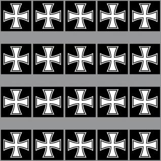 20 Aufkleber 3cm Eiserne Kreuz EK Großkreuz Symbol Modellbau Mini Sticker RC