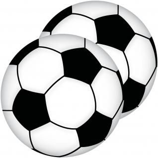 2 Aufkleber 10cm Sticker Bälle Fußball Fan Fußballaufkleber Fußballsticker EM WM