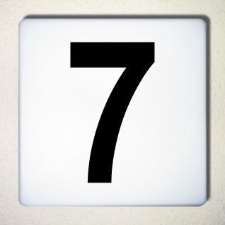 Ziffer 7 schwarz 15cm Aufkleber Tattoo Nummer Zahl Hausnummer Haus Tür Mülltonne