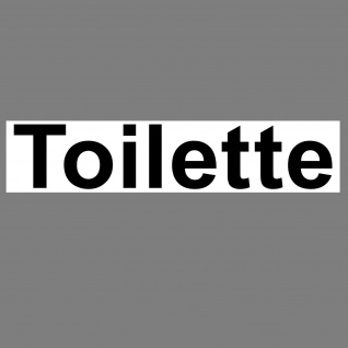 Aufkleber 20cm Toilette Sticker Hinweis Wegweiser WC BAD 00 Klo Tür Schild