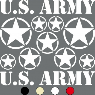 Set USA Sterne & Schrift US ARMY NAVY MP Jeep Aufkleber Tattoo Auto Deko Folie