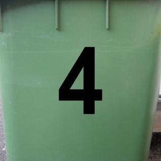 1 Stück 10cm schwarz Wunschziffer Aufkleber Tattoo Hausnummer Zahl Nummer Ziffer - Vorschau 2