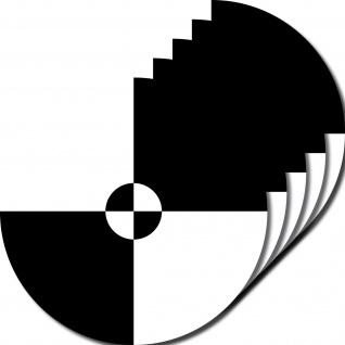 5 Aufkleber 10cm UV sw Sticker Fadenkreuz crashtest Zeichen Symbol Markierung