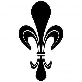 10 Aufkleber Tattoo 10cm schwarz DM Lilie Fleur de Lis Zeichen Symbol Deko Folie