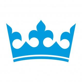 20cm blau Krone König Aufkleber Tattoo Kinder Zimmer Auto Heck Fenster Tür Möbel