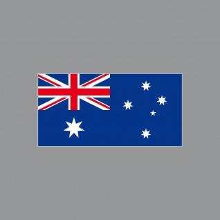 10 Aufkleber 6, 5cm Sticker AUS AU Australien Fußball Deko EM WM Flagge Fahne