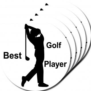 5 Aufkleber 10cm Sticker Best Golf Player Golf Fan Freund Golfspieler Golfsport