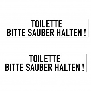 Aufkleber 20cm Toilette Bitte Sauber Halten PVC Sticker Hinweis Tür Wand WC 00 - Vorschau 3