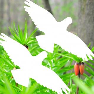 Warnvögel 40cm weiß Habicht Vögel Warnvogel Aufkleber Vogel Glas Fenster Schutz
