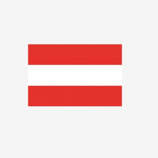 Aufkleber 6, 5cm Sticker A AT AUT Österreich Flagge Fahne Fußball EM WM Fan Deko
