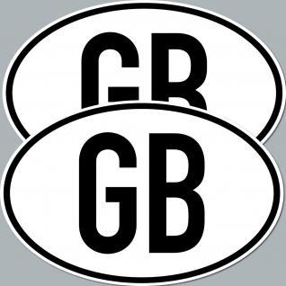2 Aufkleber Sticker GB UK England Deko Kfz Länderkennzeichen Auto Pkw