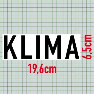 Aufkleber Klima 20cm Sticker Hinweis Auto Pkw Kfz Verkauf Händler Handel - Vorschau 2