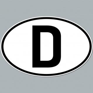 Auto Pkw Kfz Kennzeichen Länderkennzeichen Deutschland D BRD Aufkleber Sticker
