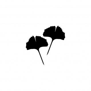 1 Paar 2 Blätter 10cm schwarz Ginkgo Blatt Aufkleber Tattoo Gingko 4061963037706 - Vorschau 1
