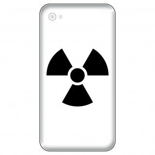4 Aufkleber Tattoo 5cm schwarz Radioaktiv Symbol Handy smartphone Deko Folie