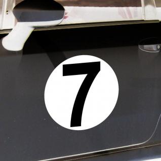 2 Aufkleber 20cm Start Nummer 7 Ziffer Zahl Sticker Racing Auto Motor Sport Kart