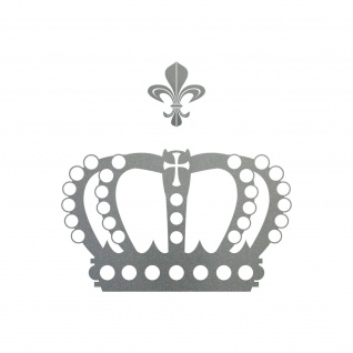 Krone mit Lilie 28cm silber Aufkleber Tattoo Deko Folie Auto Möbel Fenster Tür