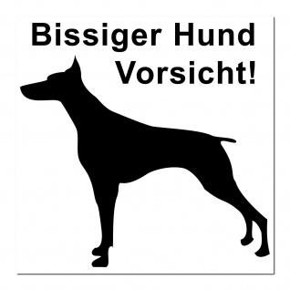 Aufkleber Sticker Hund Hunde Tür Hinweis Warnung Vorsicht bitte draußen bleiben