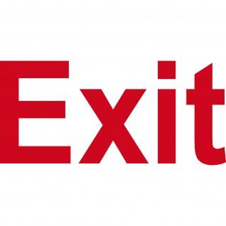 Aufkleber 13cm rot Exit Hinweis Schriftzug Tür Fluchtweg Tattoo Deko Folie