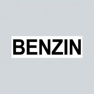 Aufkleber 6, 5cm Sticker BENZIN Kraftstoff Tanken Auto Tank Tankdeckel Hinweis