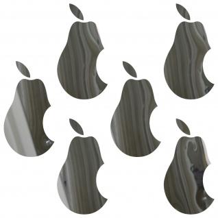6 Aufkleber 5cm chrom Birne Handy smartphone Tattoo Deko Folie Apple verarsche - Vorschau 2