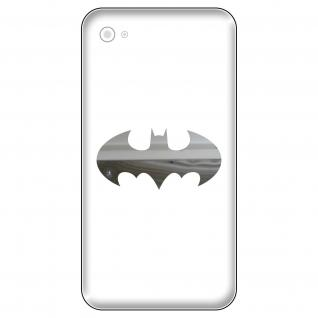 4 Aufkleber Tattoo 5cm chrom Batman rund Fledermaus Handy smartphone Deko Folie