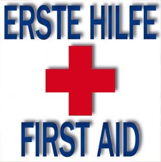 5 Aufkleber 5cm Sticker Erste Hilfe First Aid Rot Kreuz Hinweis Zeichen Symbol