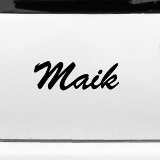 Maik 22cm Kinderzimmer Name Aufkleber Tattoo Deko Folie Auto Tür Fenster Schrank
