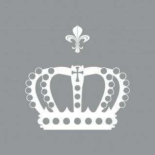 Krone mit Lilie 30cm weiß Aufkleber Tattoo Deko Folie Auto Möbel Fenster Tür
