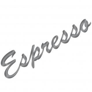 Espresso 30cm silber Schriftzug Wandtattoo Aufkleber Tattoo Deko Folie Bar Küche