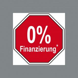 Aufkleber Sticker 5cm 0 % Null Prozent Finanzierung Angebot zinslos finanzieren