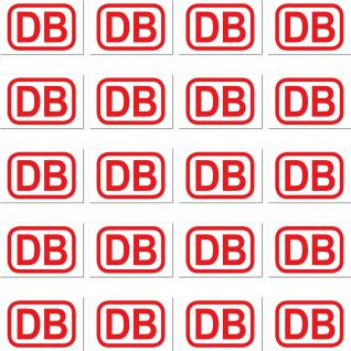 20 Stück DB Deutsche Bahn RC Modellbau Mini Deko Zubehör Aufkleber Sticker