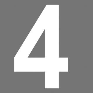 Nr 4 Aufkleber 24cm weiß Tattoo Hausnummer Haustür Lampe Zahl Haus Nummer Ziffer